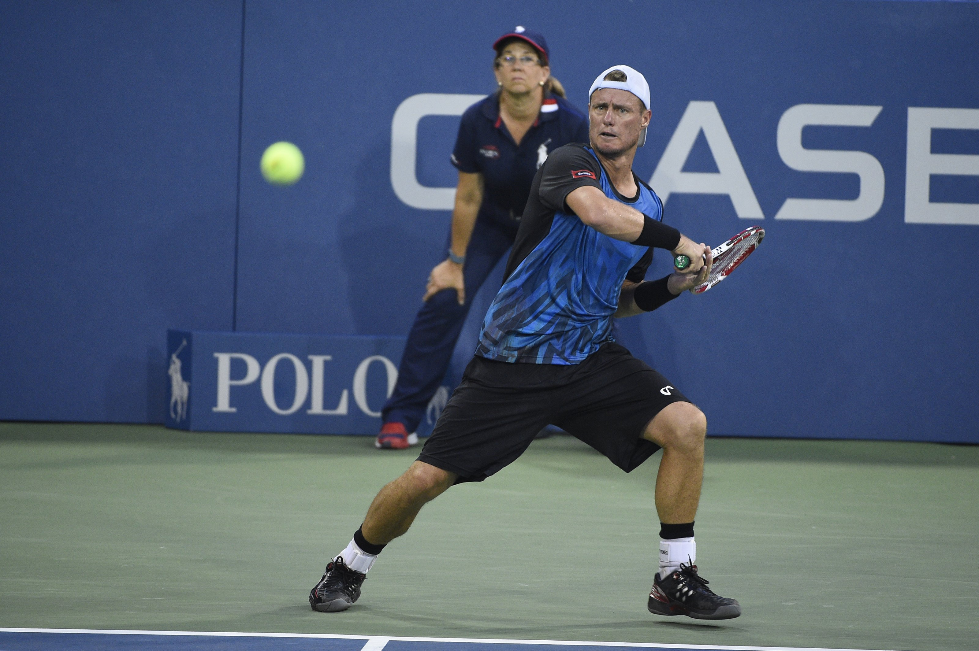 Lleython Hewitt of Australia plays his second round match at the US Open at the USTA Billie Jean King National Tennis Center in the Flushing neighborhood of the Queens borough of New York City, NY, USA on September 3, 2015. Photo by Corinne Dubreuil/ABACAPRESS.COM