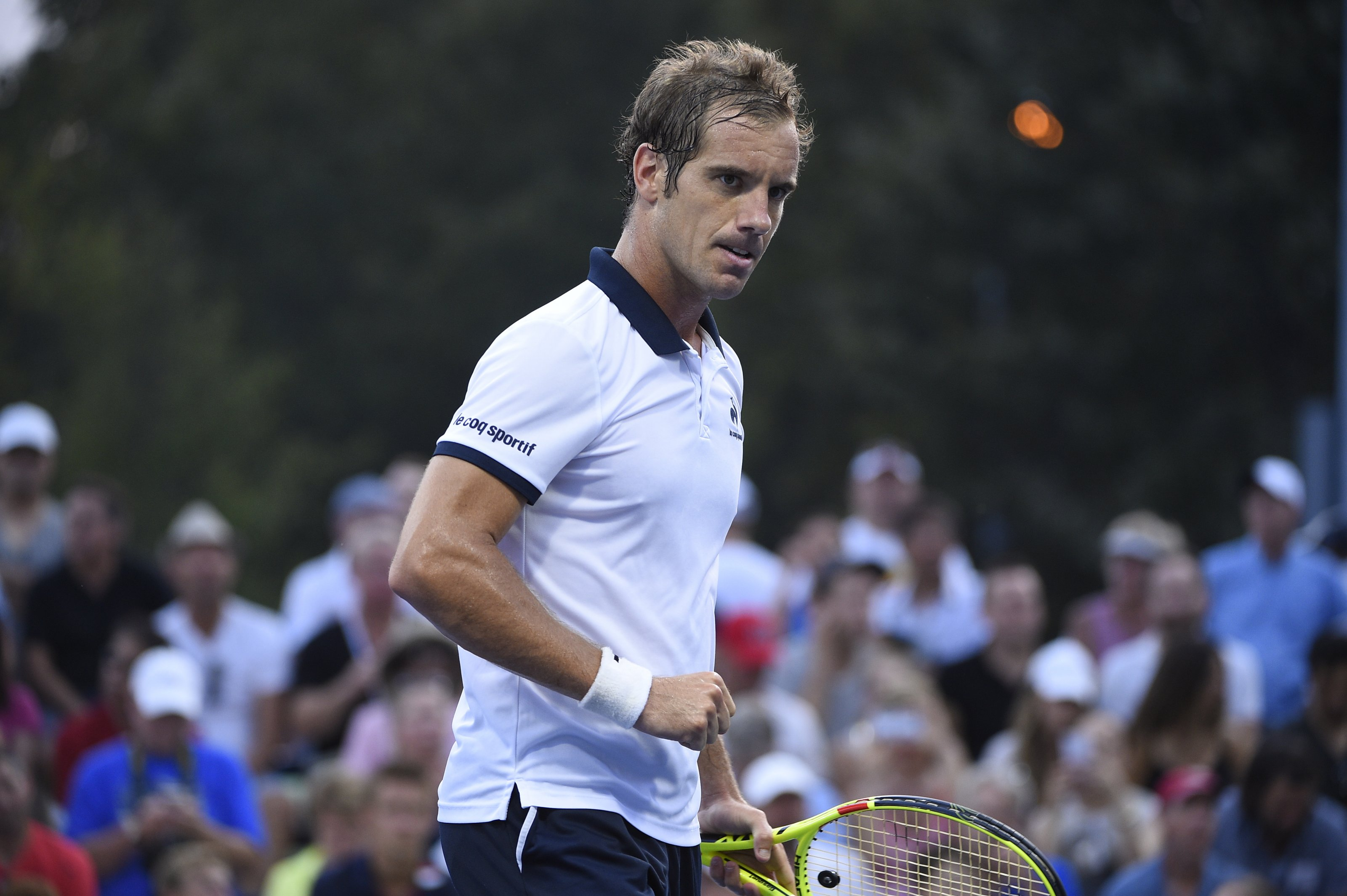 Richard Gasquet of France plays his second round match at the US Open at the USTA Billie Jean King National Tennis Center in the Flushing neighborhood of the Queens borough of New York City, NY, USA on September 3, 2015. Photo by Corinne Dubreuil/ABACAPRESS.COM