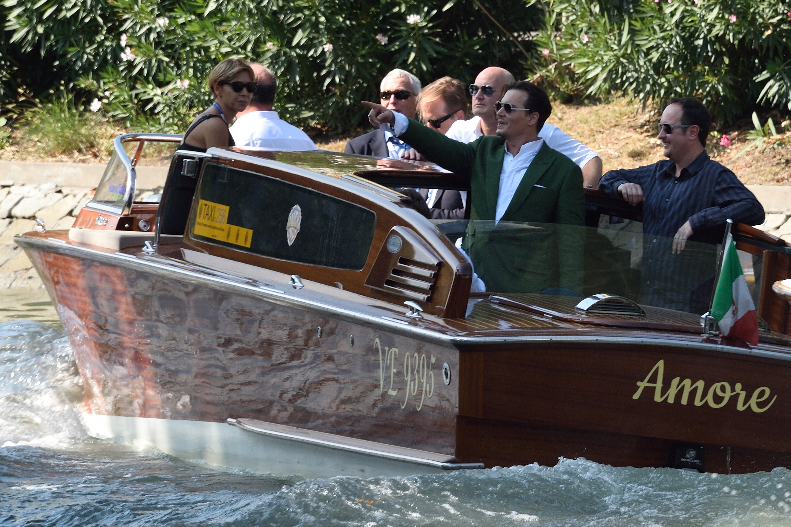 Johnny Depp coming out from the Casino during the 72nd Venice International Film Festival (Mostra) on the Lido in Venice, Italy on September 04, 2015. Photo by Aurore Marechal/ABACAPRESS.COM
