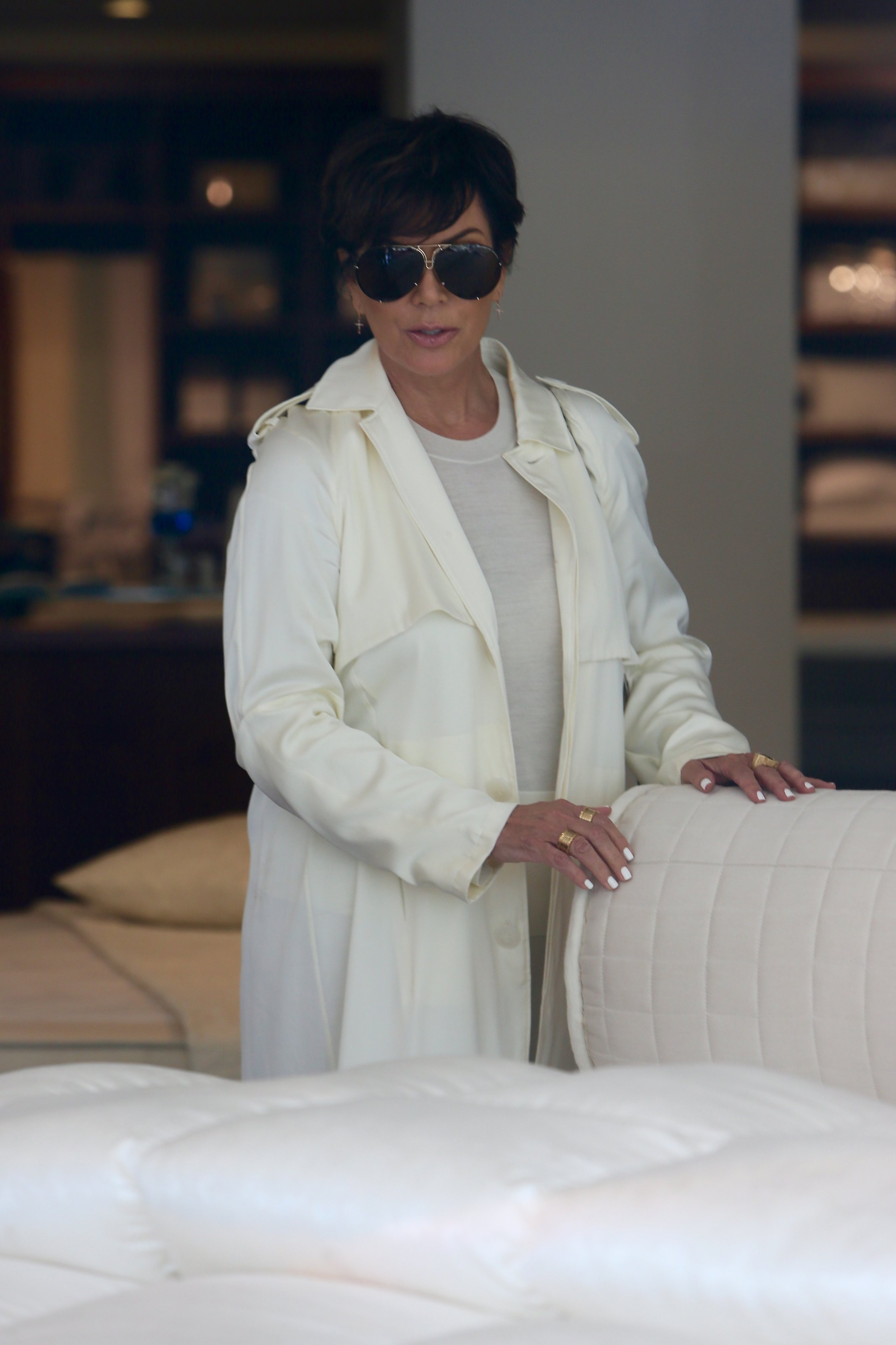 Kris Jenner seen shopping for Mattresses with a friend at Custom Comfort Mattresses.  Featuring: Kris Jenner Where: Los Angeles, California, United States When: 14 Sep 2015 Credit: Michael Wright/WENN.com