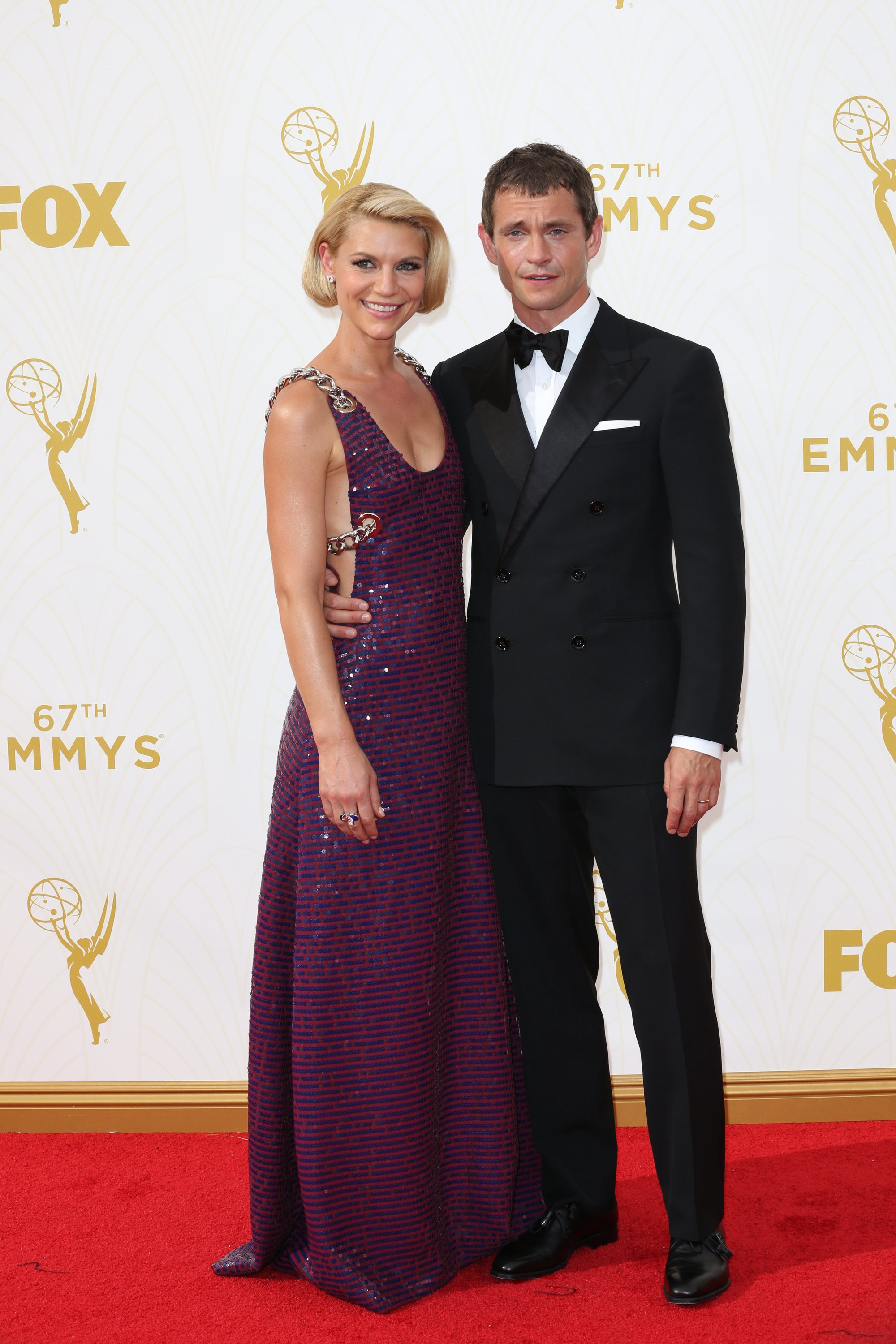 Celebrities arrive at 67th Emmys Red Carpet at Microsoft Theater.  Featuring: Claire Daines, Hugh Dancy Where: Los Angeles, California, United States When: 20 Sep 2015 Credit: Brian To/WENN.com