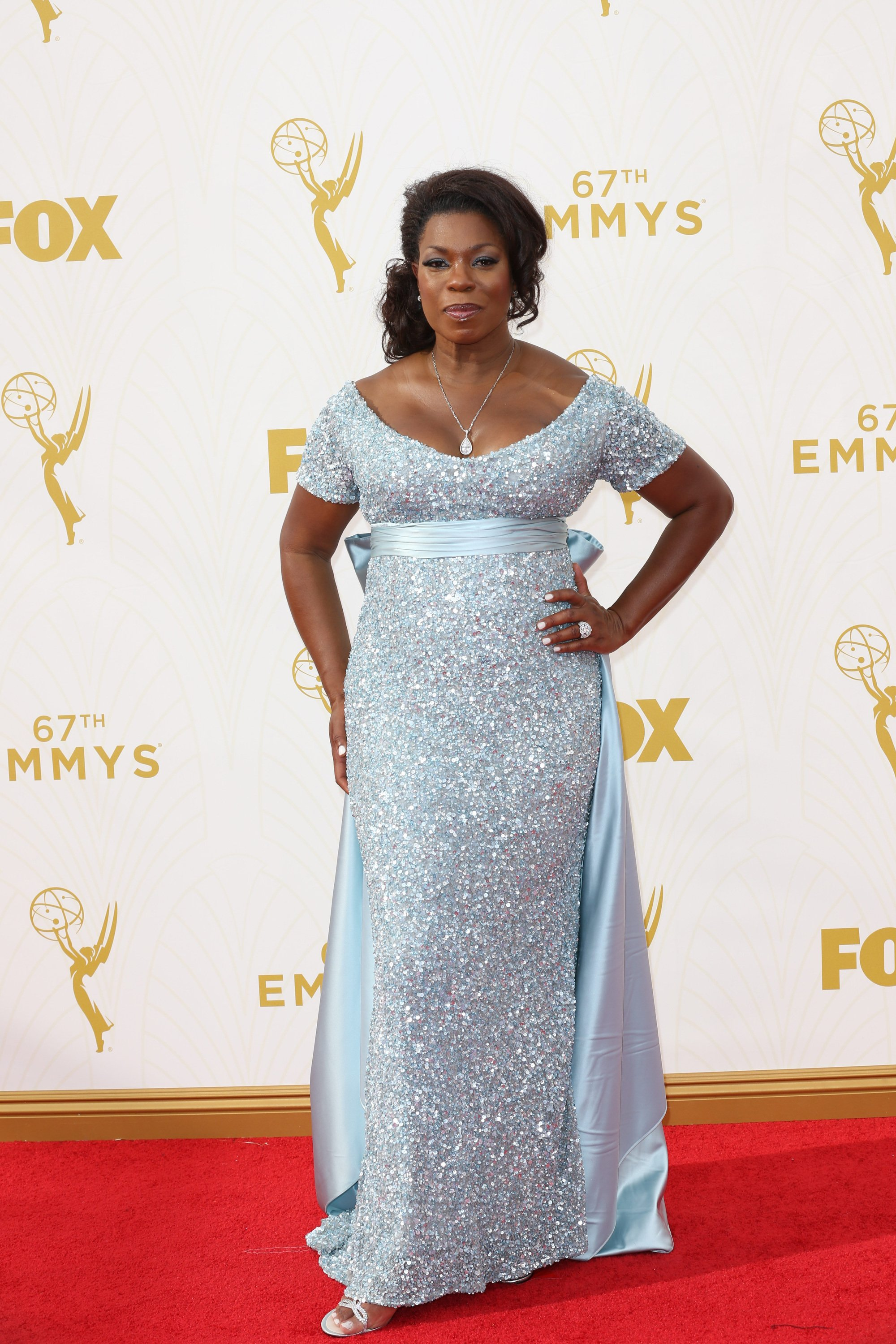 Celebrities arrive at 67th Emmys Red Carpet at Microsoft Theater.  Featuring: Lorraine Trusaant Where: Los Angeles, California, United States When: 20 Sep 2015 Credit: Brian To/WENN.com