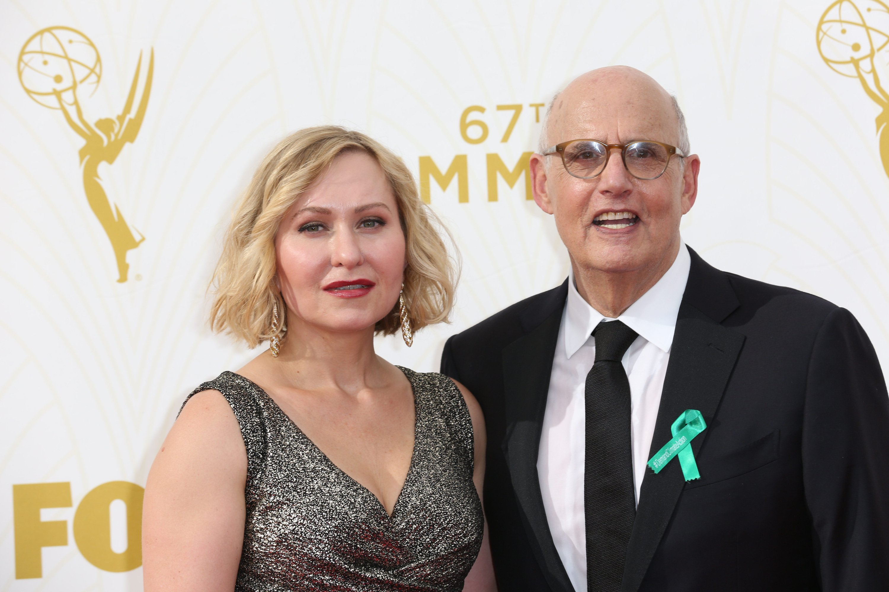 Celebrities arrive at 67th Emmys Red Carpet at Microsoft Theater.  Featuring: Kasia Ostlun, Jeffrey Tambor Where: Los Angeles, California, United States When: 20 Sep 2015 Credit: Brian To/WENN.com