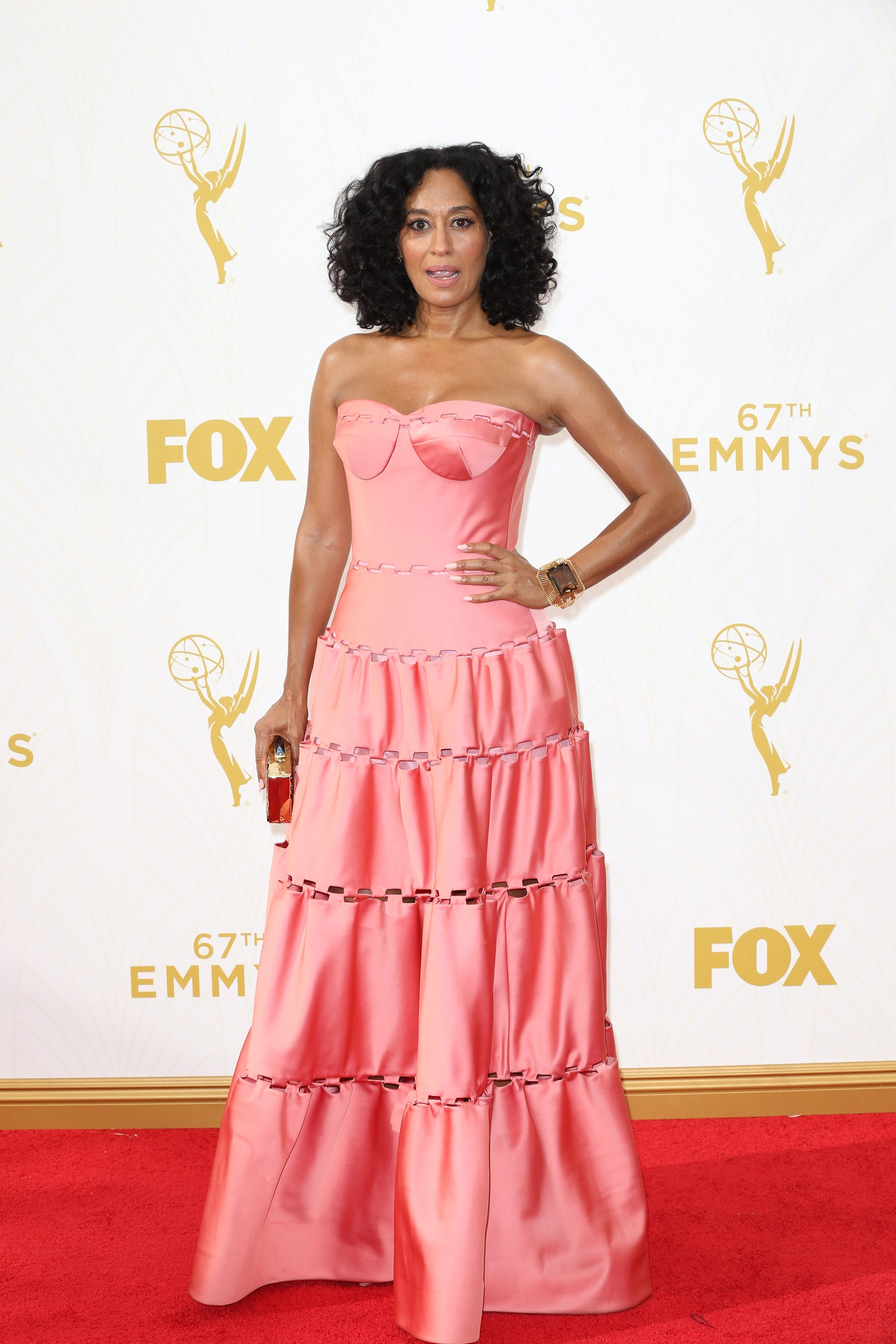 Celebrities arrive at 67th Emmys Red Carpet at Microsoft Theater.  Featuring: Tracee Ellis Ross Where: Los Angeles, California, United States When: 20 Sep 2015 Credit: Brian To/WENN.com