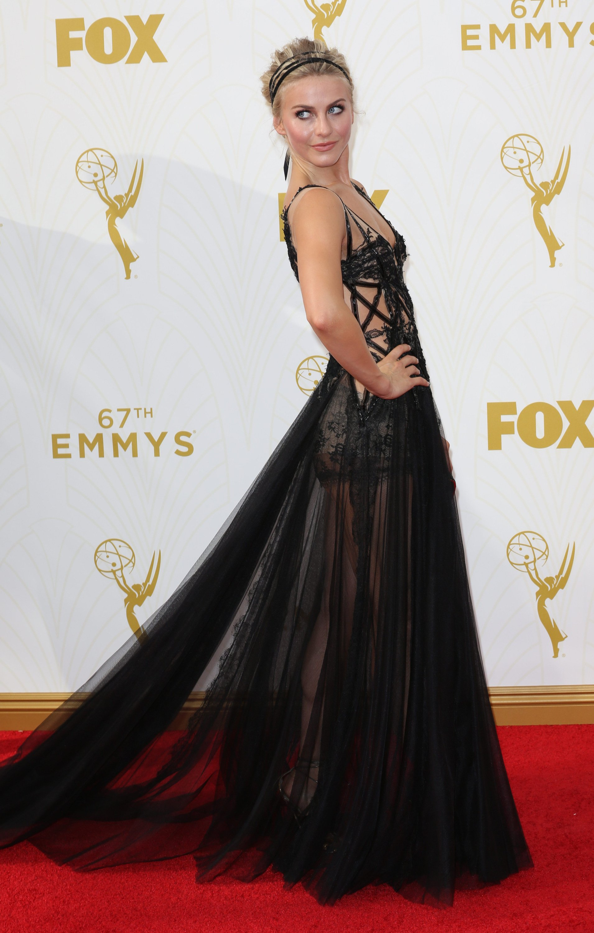 Celebrities arrive at 67th Emmys Red Carpet at Microsoft Theater.  Featuring: Julianne Hough Where: Los Angeles, California, United States When: 20 Sep 2015 Credit: Brian To/WENN.com