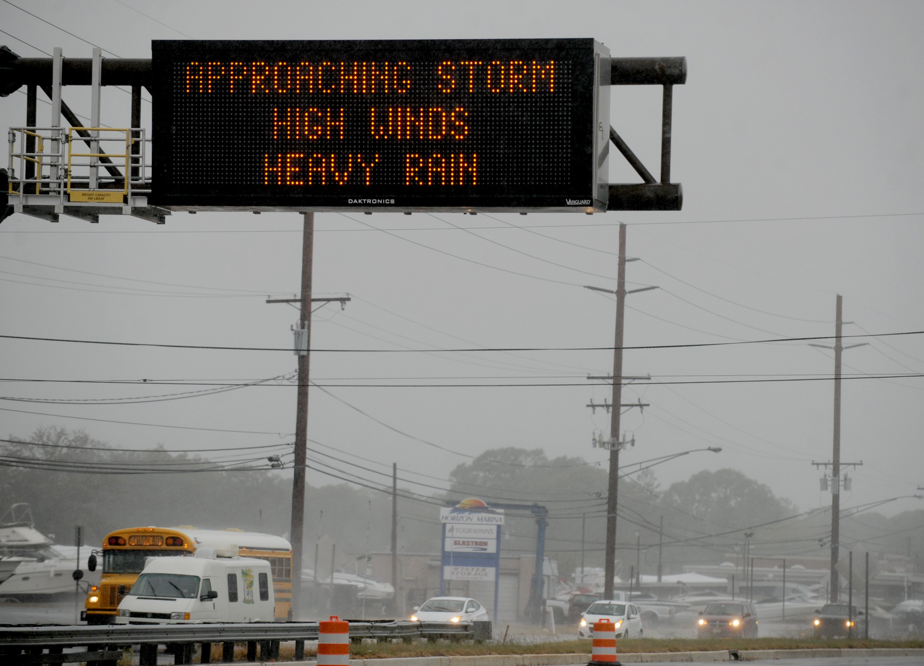 Wind and rain from Hurricane Joaquin arrives on the east coast of the United States on October 2, 2015 in Seaside Heights, NJ. The flooding scenario will develop Friday night and through the weekend as flash flood watches extend from Atlanta to near New York City. Photo by Dennis Van Tine/ABACAPRESS.COM
