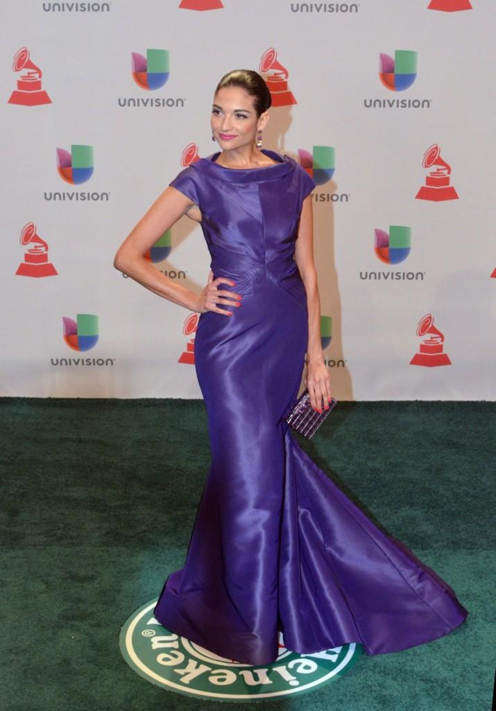 41120232. Las Vegas.- La cantante española, Natalia Jiménez, durante la alfombra verde de los Grammy Latino 2014. NOTIMEX/FOTO/JUAN COSME/COR/ACE/