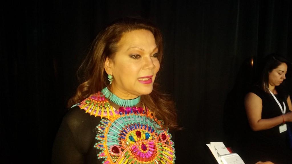 51118160. Las Vegas, 18 Nov. 2015 (Notimex-José Romero).- Ángela Carrasco, asistió a los premios especiales de la XVI entrega anual de los Grammy Latino fueron entregados hoy aquí a leyendas vivientes de la música. NOTIMEX/FOTO/ JOSÉ ROMERO MATA/FRE/ACE/