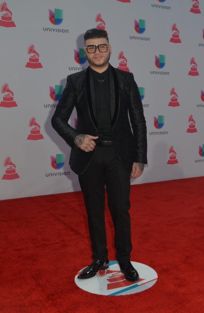 51119207. Las Vegas, 19 nov 2015 (Notimex-Juan Cosme).- Farruko, desfiló por la alfombra roja de la XVI entrega anual del Grammy Latino, hoy en un casino de Las Vegas. NOTIMEX/FOTO/JUAN COSME/COR/ACE