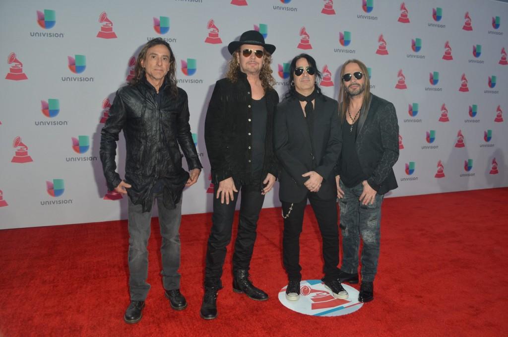 51119215. Las Vegas, 19 nov 2015 (Notimex-Juan Cosme).- Maná, desfiló por la alfombra roja de la XVI entrega anual del Grammy Latino, hoy en un casino de Las Vegas. NOTIMEX/FOTO/JUAN COSME/COR/ACE