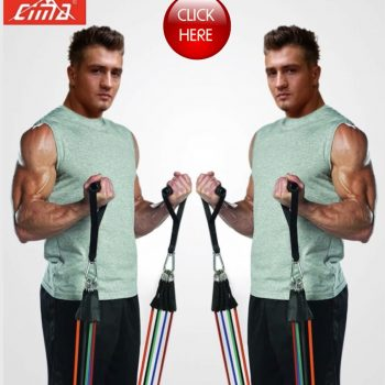 CIMA Resistance Bands 11 PCS Fitness loop ropes Tubes pull up Set Gym Equipment, Exercise Handles trainer latex Yoga.